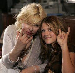 Courtney and Frances Bean